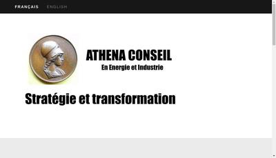 Site internet de Athena Conseil en Energie et Industrie