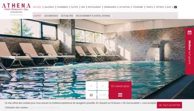 Site internet de Hotel Athena