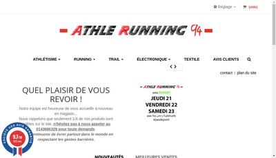 Site internet de Athlerunning94