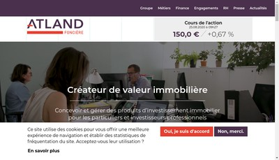 Site internet de Fonciere Atland