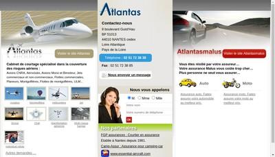 Site internet de Atlantas