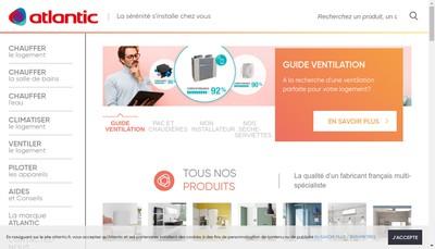 Site internet de Atlantic Industrie