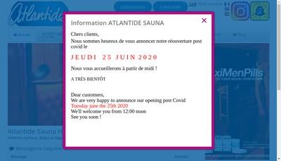 Site internet de Atlantide Sauna Hammam