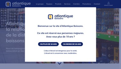 Site internet de Atlantique Boissons Redon