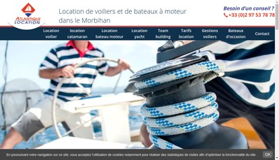 Site internet de Atlantique Location