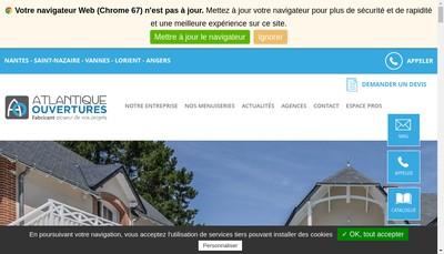 Site internet de Atlantique Ouvertures