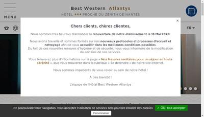 Site internet de Atlantys Hotel