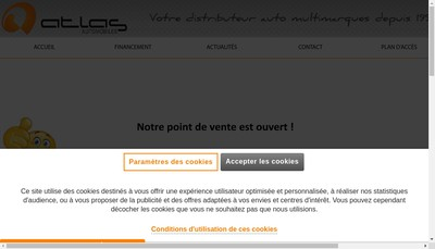 Site internet de Atlas Automobiles