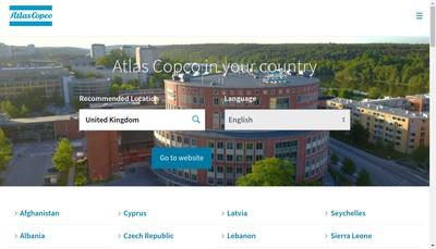 Site internet de Atlas Copco Compresseurs