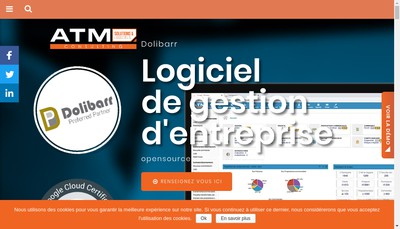 Site internet de Atm Consulting