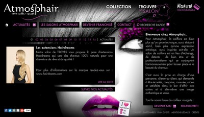 Site internet de Atmosphair