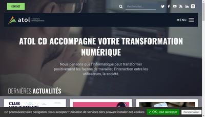 Site internet de Atol Conseils et Developpements