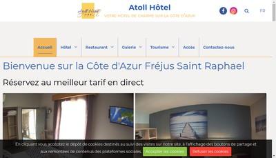 Site internet de Atoll Hotel