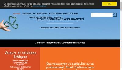 Site internet de Atout Confiance Assurances