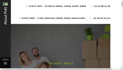 Site internet de Atout Pret