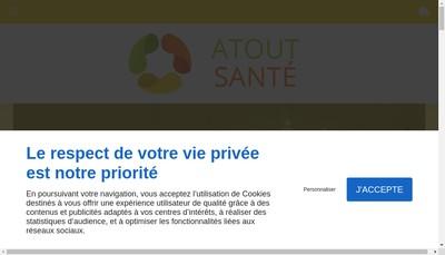 Site internet de Atout Sante