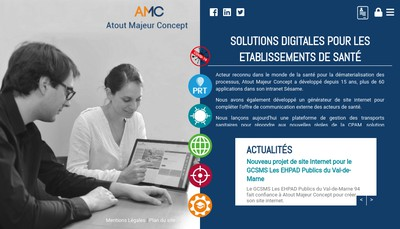 Site internet de Atout Majeur Concept