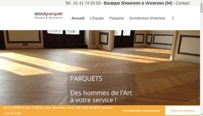 Site internet de Atout Parquet