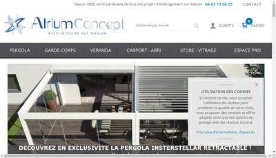 Site internet de Atrium Concept
