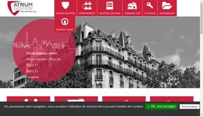 Site internet de Atrium Gestion