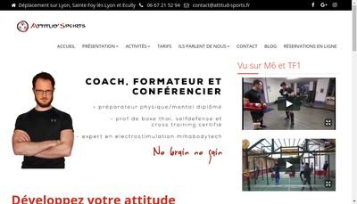Site internet de Attitud'Sports