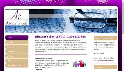 Site internet de Atypic-Conseil