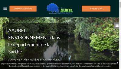 Site internet de SARL Aubel Environnement