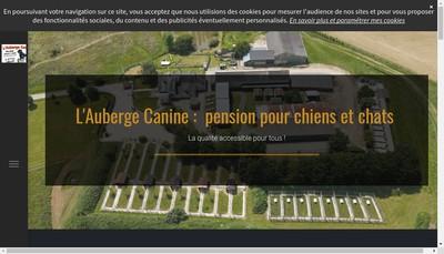 Site internet de L'Auberge Canine