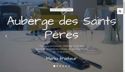 Site internet de L'Auberge des Saints Peres