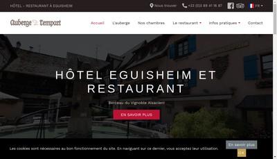 Site internet de Auberge du Rempart