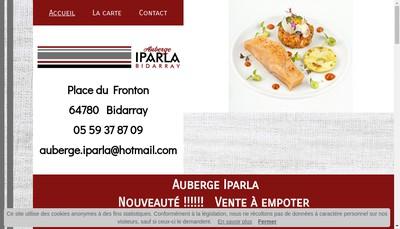 Site internet de Auberge Iparla