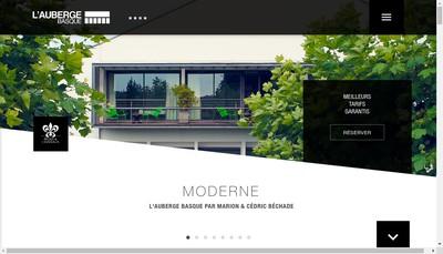 Site internet de L'Auberge Basque