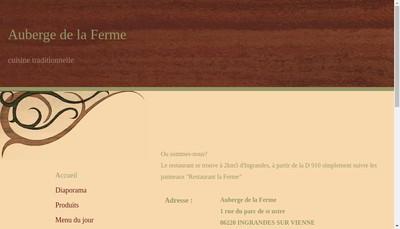 Site internet de Auberge de la Ferme