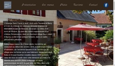 Site internet de SARL Auberge Saint Fiacre