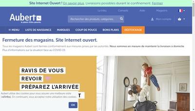 Site internet de Aubert France