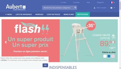 Site internet de Aubert