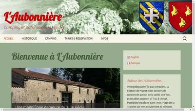 Site internet de Logis de l'Aubonniere