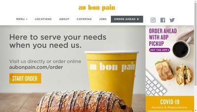 Site internet de Au Bon Pain