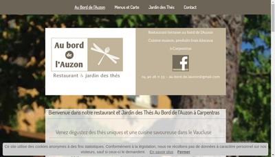 Site internet de Au Bord de l'Auzon