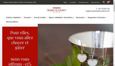 Site internet de Aubry-Cadoret-Orfevres