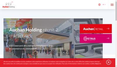 Site internet de Auchan Holding