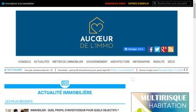 """Site internet de Au CÅ""""ur de l'Immo"""