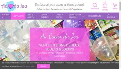 Site internet de Au Coeur du Jeu