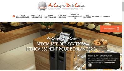 Site internet de Au Comptoir de la Caisse