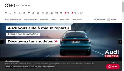 Site internet de Odicee - Aix