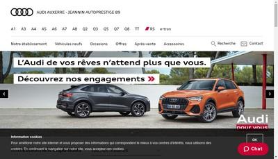Site internet de Jeannin Autoprestige 89