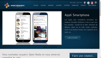 Site internet de Audio Research