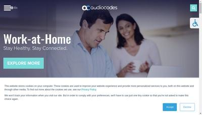 Site internet de Audiocodes France