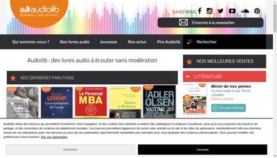 Site internet de Audiolib