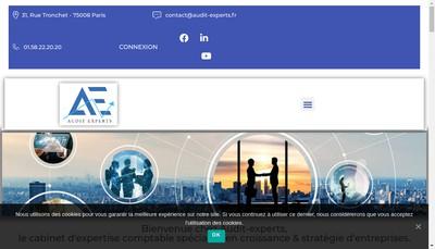Site internet de Audit Experts